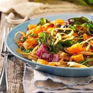 Roasted Butternut Linguine for Two Recipe