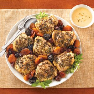 Roasted Chicken With Dried Fruit