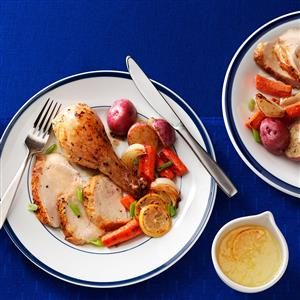 Roasted Chicken with Lemon Sauce Recipe