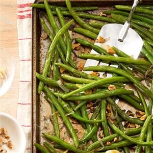 Roasted Green Beans with Lemon & Walnuts Recipe