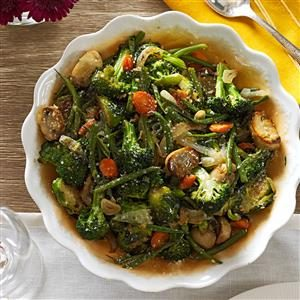 Roasted Green Vegetable Medley Recipe