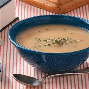 Roasted Onion & Garlic Soup Recipe