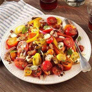 Roasted Pepper Salad with Balsamic Vinaigrette Recipe