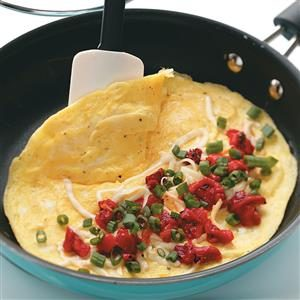 Roasted Red Pepper Omelets