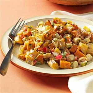 Roasted Sweet and Gold Potato Salad Recipe