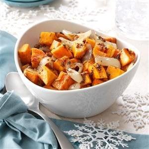 Roasted Sweet Potato and Onion Salad