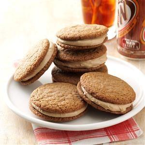 Root Beer Float Sandwich Cookies Recipe