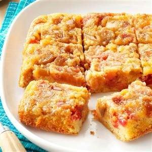 Rosy Rhubarb Upside-Down Cake Recipe