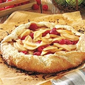 Rustic Apple Raspberry Tart