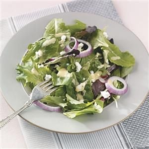 Salad Greens with Honey Mustard Dressing