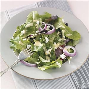Salad Greens with Honey Mustard Dressing Recipe