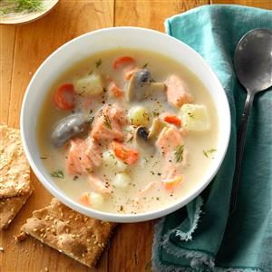 Salmon Dill Soup Recipe