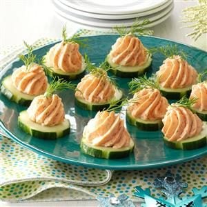 Salmon mousse canapes recipe taste of home for Canape dessert ideas