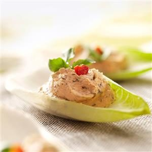 Salmon Mousse Endive Leaves Recipe