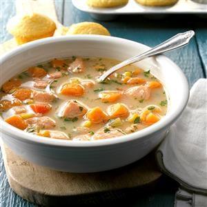 Salmon Sweet Potato Soup Recipe
