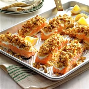 Salmon with Horseradish Pistachio Crust Recipe