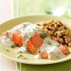 Salmon with Tarragon Sauce Recipe