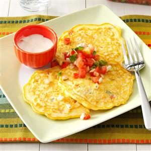 Salsa Corn Cakes Recipe