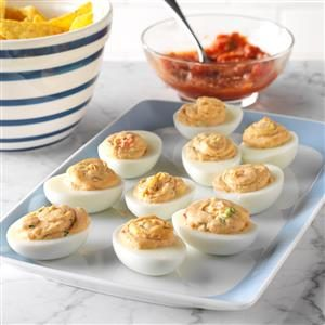 Salsa Dipper Deviled Eggs Recipe