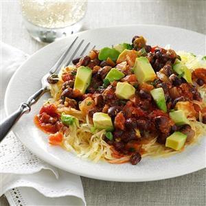 Salsa Spaghetti Squash Recipe