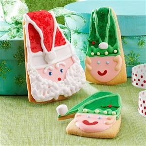 Santa and Elf Christmas Cookies Recipe