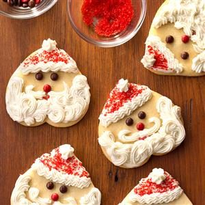Santa Sugar Cookies Recipe