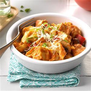 Saucy Chicken & Tortellini  Recipe