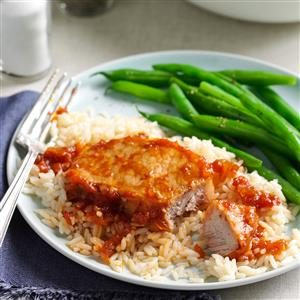 Saucy Chinese Pork Chops Recipe