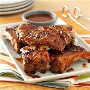 Saucy Grilled Baby Back Ribs Recipe