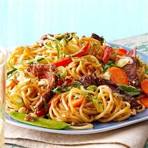 Saucy Thai Beef Noodles Recipe