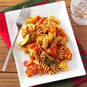 Saucy Veggie Spirals Recipe