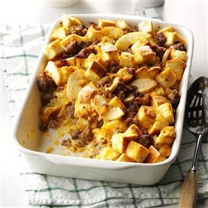 Spicy Sausage & Apple Overnight Casserole Recipe
