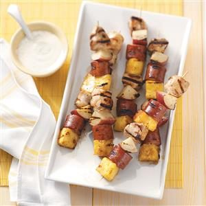 Sausage & Chicken Kabobs Recipe
