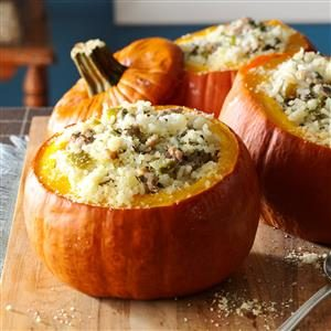 Sausage & Rice Stuffed Pumpkins Recipe