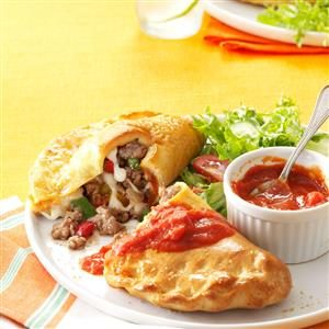 Sausage, Pepper & Mozzarella Calzones Recipe