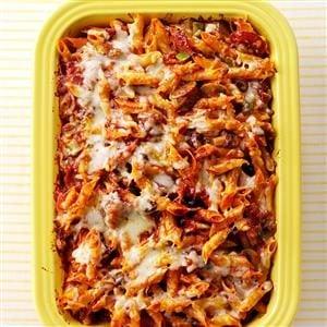 Sausage and Pepperoni Pizza Pasta Recipe