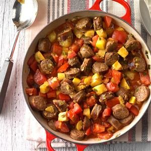 Sausage and Vegetable Skillet Recipe