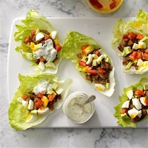 Sausage Cobb Salad Lettuce Wraps Recipe