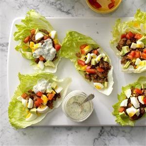 Sausage Cobb Salad Lettuce Wraps Recipe