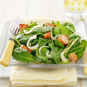 Sausage Spinach Salad Recipe