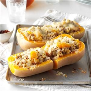 Sausage-Stuffed Butternut Squash Recipe