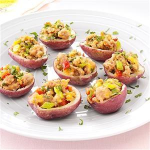 Sausage-Stuffed Red Potatoes Recipe