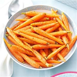Vegetarian Menu #5 Side Dish:  Sauteed Orange-Glazed Baby Carrots