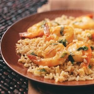 Sauteed Orange Shrimp with Rice Recipe