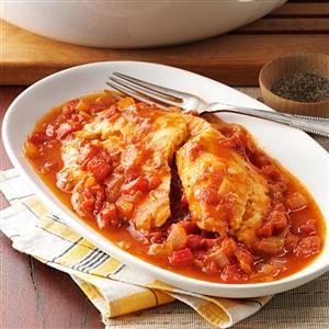 Savory Tomato-Braised Tilapia Recipe