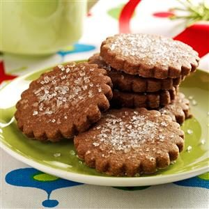 Scalloped Mocha Cookies Recipe