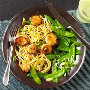 Scallops with Chipotle-Orange Sauce Recipe