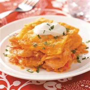 Seafood Tortilla Lasagna Recipe