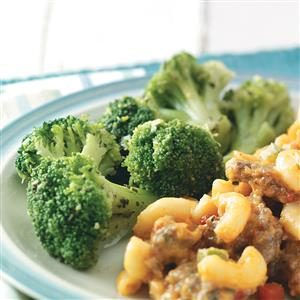 Seasoned Broccoli Spears for Two Recipe