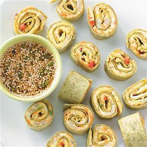 Sesame Omelet Spinach Spirals Recipe